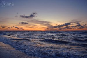 sunset at the beach II by directly