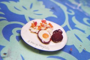 Pinoy Miniature Food: Maalat na itlog by margemagtoto