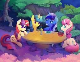 Minuette! .... and friends. close up. by viwrastupr