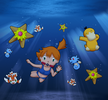 Misty underwater by Kat-Skittychu