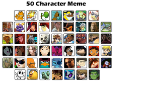50 character meme by AcetheKidd17