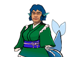 Wakasagihime With Satoru Iwata's Face by soniplushie