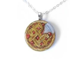 Cherry Pie - Pendant Necklace by sobeyondthis