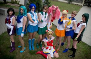 Super Sailor Moon group by Tazziecosplay