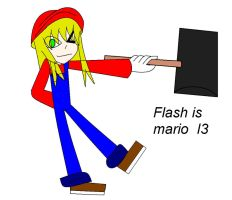 Flash is mario by camilleartist132