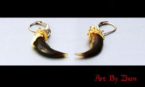 Coyote Claw Earrings by Zhon