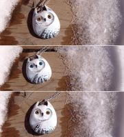 Snowy Owl Buddies by Gatobob