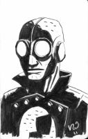Lobster Johnson sketch by vascosousa