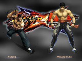 Feilong vs Marshall Law - SFxTekken by khotebabu