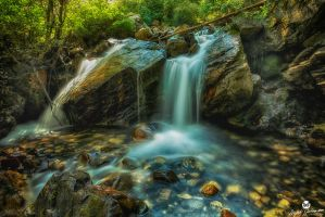 Boulders and Waterfalls HDR by mjohanson