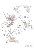 Blue Rose Unicorn by HeatherHitchman