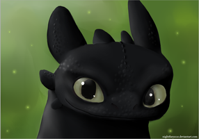 Toothless head by NightFury1020