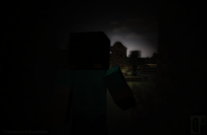 Unremoved Herobrine by QuasarAve