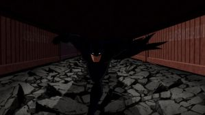 Batman Attacking by TwoScoopsXD