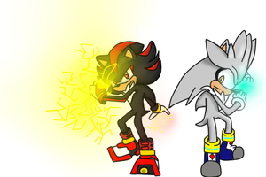 Silver and Shadow use their powers by ChiaraChantal