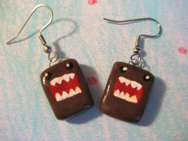 Domo-kun Earrings by crude-pop