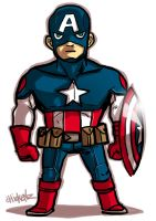 little : Captain America by ChickenzPunk