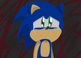Sad Sonic by CartoonFansArt