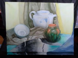 Still Life in Watercolor by AlexRammsteiner