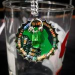 Circuit Board Pendant: Resistors and Beads by Llyzabeth