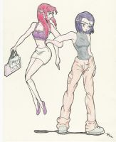 Raven and Starfire by blue-eyed-lenore