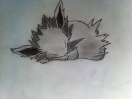 Jolteon sleeping by MartinHyuuga