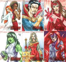 Avengers Age Of Ultron Sketch Cards by mechangel2002