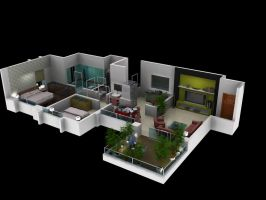 2 BHK Floor plan by psd0503