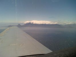 View of Table Mountain from a 75 year-old aircraft by Rooivalk1