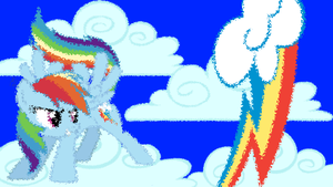 Rainbow Dash BG (1366 x 768) by SkulkingShadows