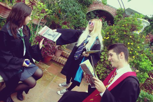 Hogwart's Students cosplay by MissWeirdCat