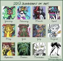 2012 Summary of Art by DragonBeak