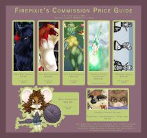 Commission Price Guide by firepixie