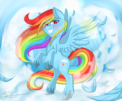 Rainbow Dash Being Awesome by mc10215