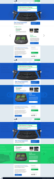 Product showcase website template 2 by RasonDesign