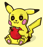 Graphic | Pikachu Loves Apples by RoaringWindd