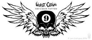 Sid's Back Tattoo by grungepuppy