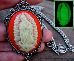GLOW IN THE DARK Virgin Mary by Horribell-Originals