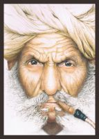 Old Indian Man by Amicela