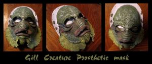 Gill Creature prosthetic mask by Anarchpeace