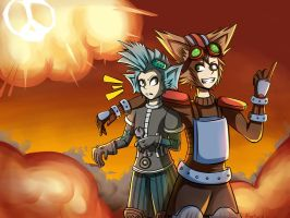 Explotions first, questions later. Ziggs/Rumble by Abakura