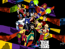 Teen Titans - GO - Wallpaper by UltimeciaFFB