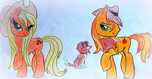 Applejack,winona And Braeburn by ann-katrin