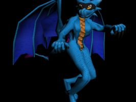 BlueDragoness-Textured-Pose2 by SpitFireDragon