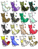 Free Cat Adopts --CLOSED by SammyslionAdopts