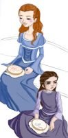 Arya and Sansa by miss-azalis