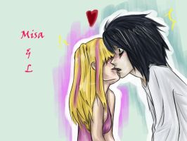 L x Misa. omg. by GoldFish2007