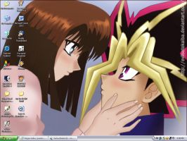 Yami x Tea I Love You Desktop by PharaohAtisLioness
