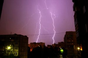 summer storm. lightning_08 by Sangvinar