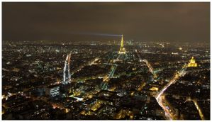 Paris from above at night by Andrei-Joldos